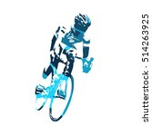 Road Cyclist Vector Illustration
