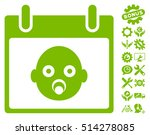 baby head calendar day icon... | Shutterstock .eps vector #514278085