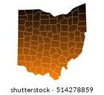 map of ohio | Shutterstock .eps vector #514278859