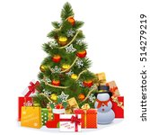 vector christmas tree with... | Shutterstock .eps vector #514279219