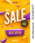 final sale poster or flyer... | Shutterstock .eps vector #514281457