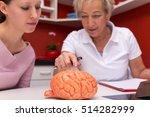 female doctor explains an... | Shutterstock . vector #514282999