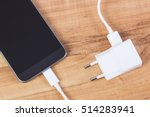 mobile phone with connected... | Shutterstock . vector #514283941
