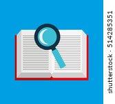 cute girl open book study... | Shutterstock .eps vector #514285351