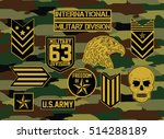 military set of army badge  ... | Shutterstock .eps vector #514288189