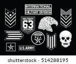 military set of army badge  ... | Shutterstock .eps vector #514288195