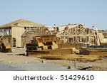 new home being built in a... | Shutterstock . vector #51429610