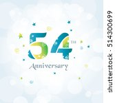 54 th anniversary logo template ... | Shutterstock .eps vector #514300699