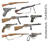 set of antique firearms weapons.... | Shutterstock . vector #514304371