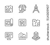 set line icons of architectural | Shutterstock .eps vector #514305907