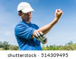 golfer elbow pain during the... | Shutterstock . vector #514309495