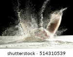 hands with splash of white... | Shutterstock . vector #514310539