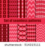 set seamless pattern with... | Shutterstock .eps vector #514315111