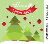 christmas card with christmas... | Shutterstock .eps vector #514323169