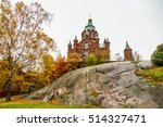 uspenskin cathedral in helsinki ... | Shutterstock . vector #514327471