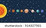 illustrations of solar system... | Shutterstock .eps vector #514327501