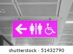 washroom sign with male  female ... | Shutterstock . vector #51432790