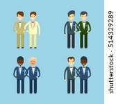 gay marriage icons set. wedding ... | Shutterstock .eps vector #514329289