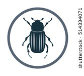 beetle icon. simple design for... | Shutterstock .eps vector #514334071