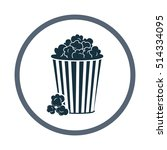popcorn icon. simple design for ... | Shutterstock .eps vector #514334095