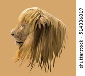 lion low poly design. triangle... | Shutterstock .eps vector #514336819