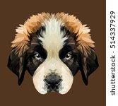 saint bernard puppy dog low... | Shutterstock .eps vector #514337929
