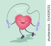 healthy heart. healthy... | Shutterstock .eps vector #514339231