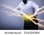 low back pain  strained back ...   Shutterstock . vector #514339384