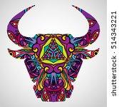 Psychedelic Bull Head...