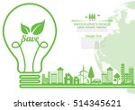ecology  environmentally... | Shutterstock .eps vector #514345621