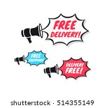 free delivery  free shipping  ... | Shutterstock .eps vector #514355149
