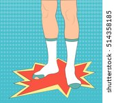 feet in socks vector... | Shutterstock .eps vector #514358185