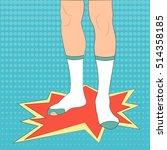 Feet In Socks Vector...