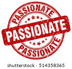 passionate stamp.  red round... | Shutterstock .eps vector #514358365