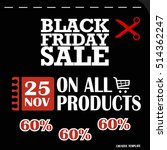 black friday  big sale ... | Shutterstock .eps vector #514362247