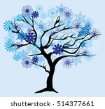 vector illustration of a winter ... | Shutterstock .eps vector #514377661