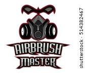 airbrush master logo  | Shutterstock .eps vector #514382467
