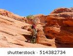near moab  bootlegger canyon ... | Shutterstock . vector #514382734