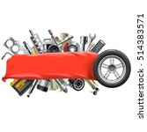 vector banner with car spares | Shutterstock .eps vector #514383571
