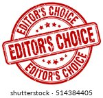 editor's choice stamp.  red... | Shutterstock .eps vector #514384405