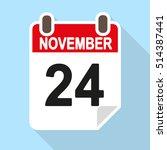 calendar vector icon  flat... | Shutterstock .eps vector #514387441