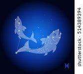 pisces astrological sign  ... | Shutterstock .eps vector #514389394
