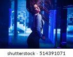beautiful young women posing in ... | Shutterstock . vector #514391071