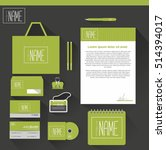 corporate identity templates in ... | Shutterstock .eps vector #514394017