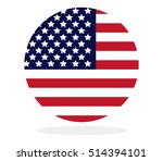us flag in the shape of a circle | Shutterstock . vector #514394101