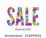 colorful sale banner template....   Shutterstock .eps vector #514399531