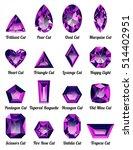 set of realistic purple...   Shutterstock .eps vector #514402951