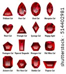 set of realistic red rubies... | Shutterstock .eps vector #514402981