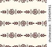 floral mehendi pattern ornament | Shutterstock .eps vector #514404961