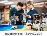 robotics engineer students... | Shutterstock . vector #514412104